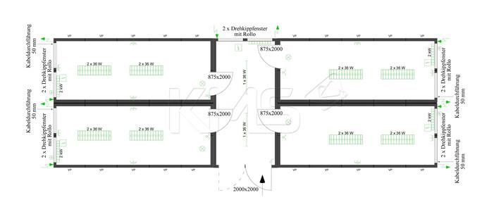 Planungsbeispiel 4er Anlage mit Flurcontainer V2