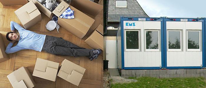 Wohnen im container die vorteile der kms wohncontainer for Badezimmer container mieten