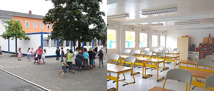 Schulcontainer Klassenzimmer Vermietung