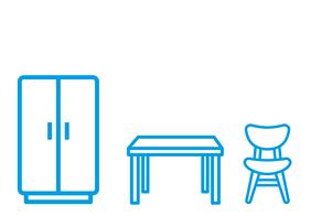 Mobiliar und Einrichtungen für Container